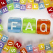 Text FAQ on colorful cubes — Stock Photo #8702033