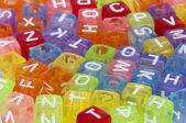 Colorful cubes with letters — Stock Photo