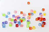 Colorful cubes with letters — Photo