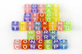 Text Concept on colorful cubes — Stock Photo
