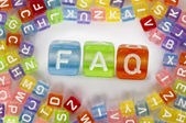 Text FAQ on colorful cubes — Stock Photo