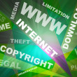 Stock Photo: Internet texts copyright conception