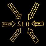 Word SEO.Search engine optimization — Stock Photo