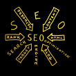 Stock Photo: Word SEO.Search engine optimization