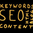Royalty-Free Stock Photo: Word SEO.Search engine optimization
