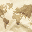 Stock Photo: Dot World old style map background