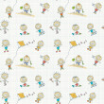 Children play seamless wallpaper — Stock Vector