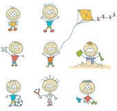 Children play — Stock Vector