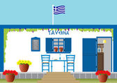 Greek Taverna — Stock Vector