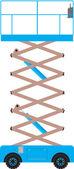 Scissor lift platform — Stockvector