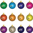 Christmas Baubles - Stock Vector