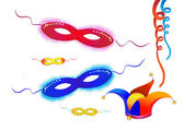 Festive vector elements-carnival maskspuri — Stock Vector