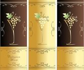 Collection Wines — Stock Vector