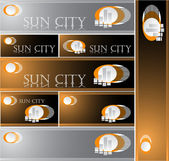 Sun City — Stock Vector