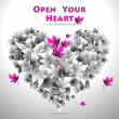 Open Your Heart — Stock Vector