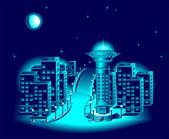 Gece şehir — Stok Vektör