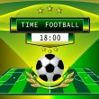 Stock Vector: Time football
