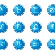Horoscope zodiac signs, set of icons, vector illustration - Stock Vector