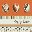 Easter card with eggs, vector illustration — Stock Vector