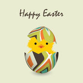 Easter card with a hatching chick, vector illustration — Stock Vector