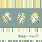 Osterkarte mit eiern, vektor-illustration — Stockvektor