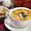 Stock Photo: Salmon soup