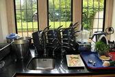 Proffecional kitchen — Stock Photo