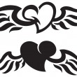 Stock Vector: Heart tattoos