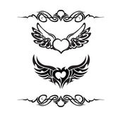Tribal tattoo set vector — Stock Vector