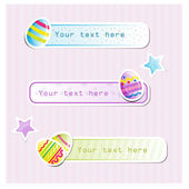 Easter day stickers and labels — Stock Vector