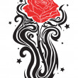 Royalty-Free Stock Vector Image: Elegant rose tattoo