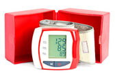Blood pressure meter with a box — Stock Photo