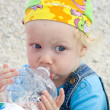 Baby drinking water — Stock Photo