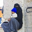 Female beggar on the Temple Mount, Jerusalem — Stock Photo