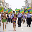 Stock Photo: Police officers providing safety at Pride March TA