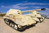 British and American tanks — Stock Photo