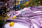 Codfish on the stall — Stock Photo