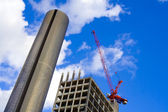 Scyscraper building site — Stock Photo