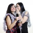 Royalty-Free Stock Photo: Two girls gossiping at the party