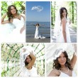 Wedding collage. Made of five photos. — Stock Photo