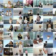 Business collage. Made of 49 photos. — Stock Photo