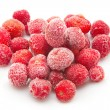 Stock Photo: Sweet, luscious frozen strawberries