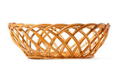 Basket woven of twigs — Stock Photo