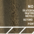 No skateboarding sign painted on footpath — Stock Photo