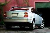 Silver car — Stock Photo