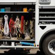 Stock Photo: Climbing equipment in truck