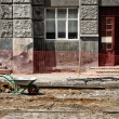 Wheelbarrow on the construction site — Stock Photo