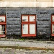Three old vintage windows — Stock Photo