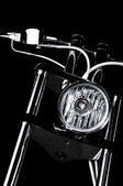 Chrome chopper handlebars — Stock Photo