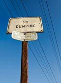 No dumping sign — Stock Photo